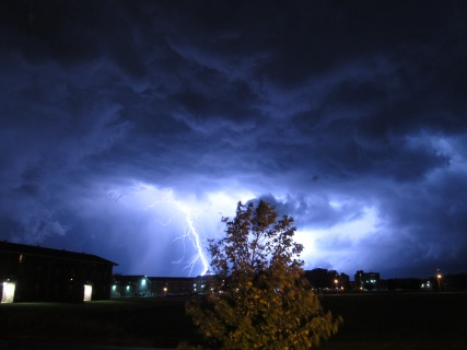 Lightning strike in Edinboro, PA on 9/5/14. Photo taken by me.